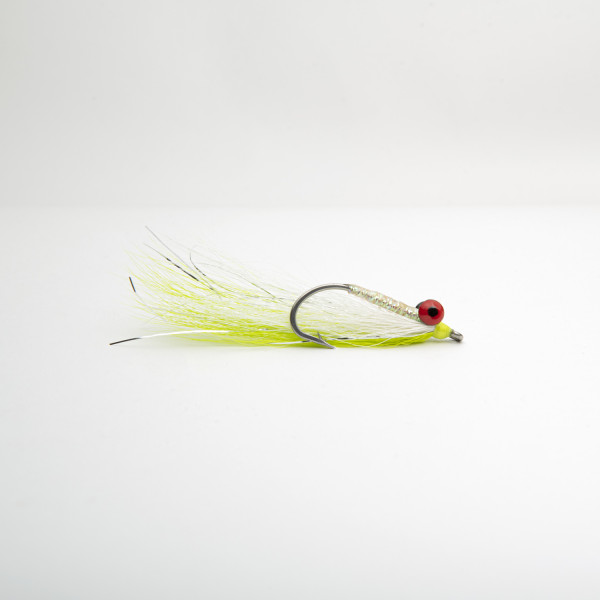 Clouser Mega Chartreuse/White